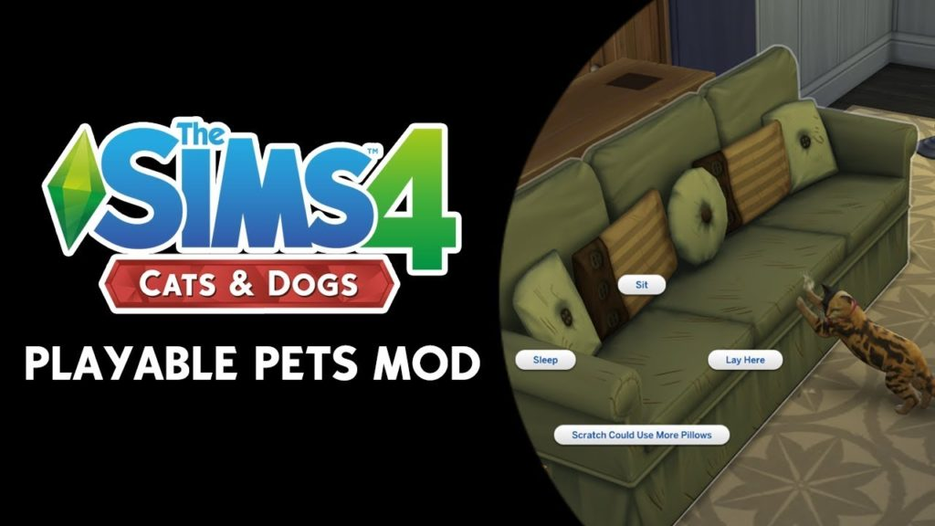 sims 4 playable pets mod 2020