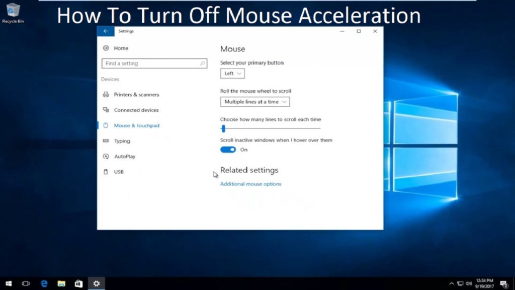 How To Turn Off Mouse Acceleration   Windows 10 (Updated)