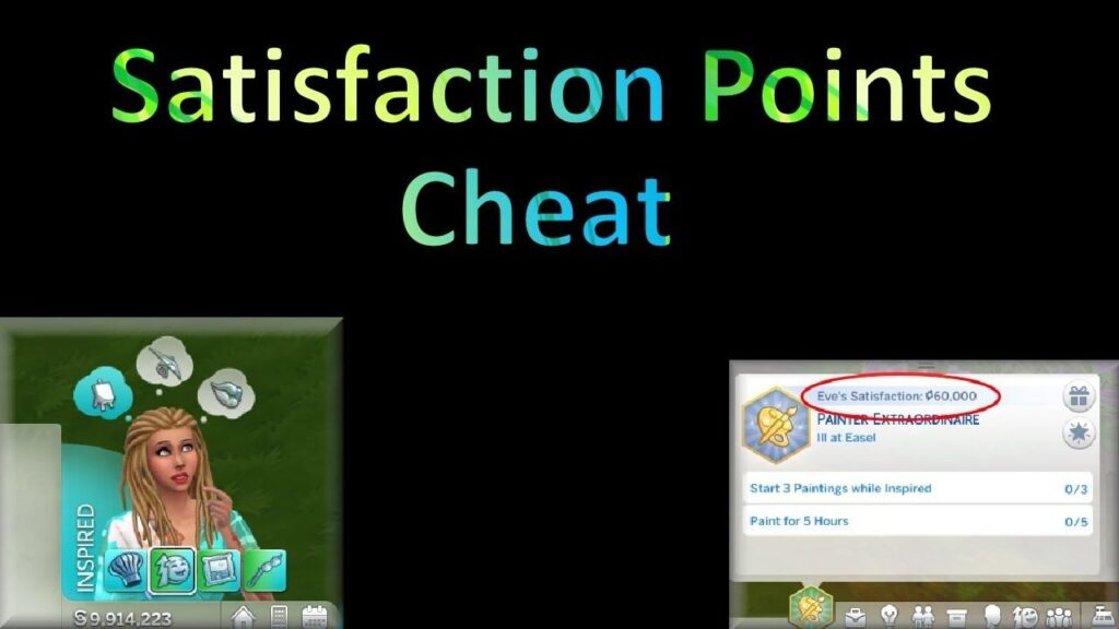 Sims 4 Satisfaction Points Cheat | Aspiration Points | Rewards Cheat & Points