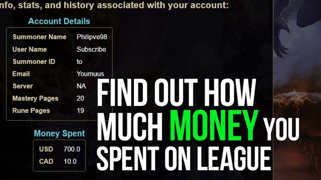 How Much Money Have I Spent on League Of Legends (LOL)