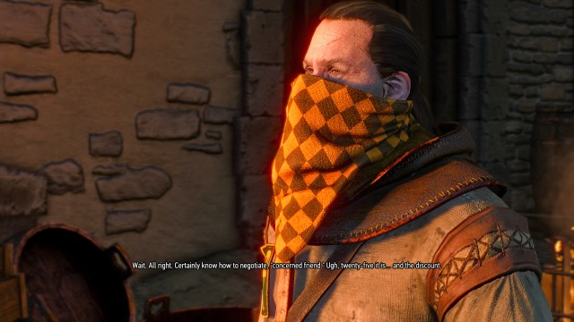 Help the Witcher 3 Hattori make a deal with his supplier