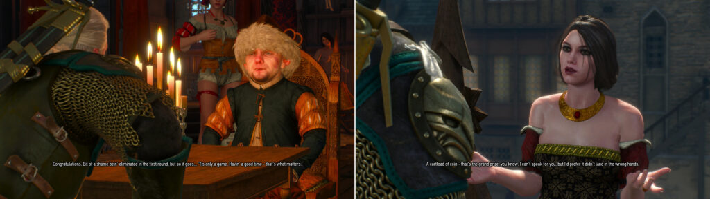 Bernard tulle in Witcher 3 Gwent tournament.
